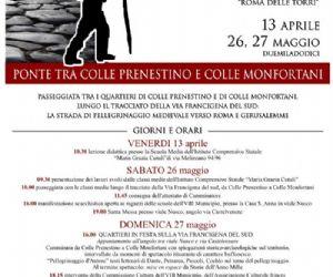 """Altri eventi - LA VIA FRANCIGENA DEL SUD NEL MUNICIPIO VIII """"ROMA DELLE TORRI"""""""
