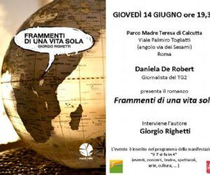 """Altri eventi: Presentazione romanzo """"Frammenti di una vita sola"""" di Giorgio Righetti"""