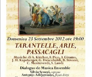Concerti: TARANTELLE, ARIE, PASSACAGLI