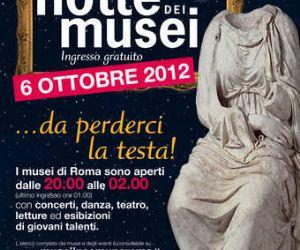 Altri eventi - Sabato 6 ottobre torna a Roma La Notte dei Musei