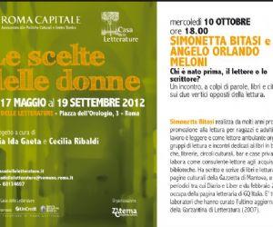 Altri eventi: Angelo Meloni dialoga con Simonetta Bitasi a Casa delle Letterature a colpi di parole, libri e citazioni sui due vertici opposti della lettura