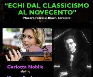 """Concerti: Concerto """"ECHI DAL CLASSICISMO AL NOVECENTO"""""""