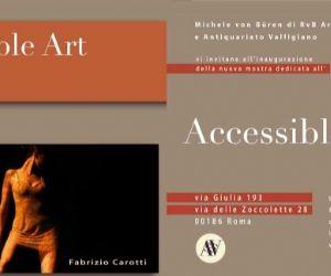 Gallerie: RvB Arts, Accessible Art - Mostra di Carotti, Deli, Zarattini