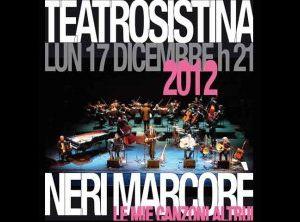 """Concerti: Al Sistina un evento davvero speciale NERI MARCORE' in """"LE MIE CANZONI ALTRUI"""""""