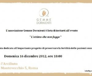 Spettacoli: Serata evento a sostegno delle pazienti malate di cancro per la protezione della fertilità