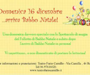 Altri eventi: Arriva Babbo Natale al Teatro Furio Camillo