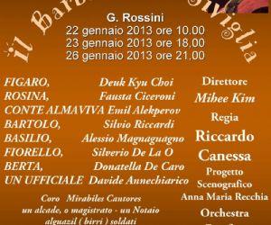 Spettacoli: Il Barbiere di Siviglia al Teatro Don Bosco
