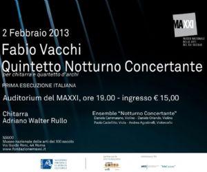 Concerti - Concerto in prima italiana del Quintetto Notturno Concertante di Fabio Vacchi