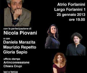 Concerti - NICOLA PIOVANI all' Ospedale Forlanini di Roma - SGUARDI OLTRE - Percorsi d'arte nell' ospedale Forlanini San Camillo