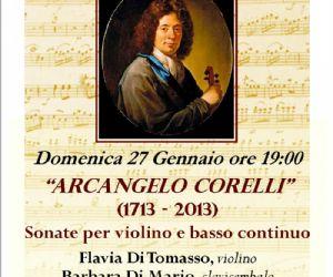 """Concerti: Arcangelo Corelli sonate per violino e basso continuo per la Stagione Concertistica """"Musica ai Ss. Apostoli"""""""