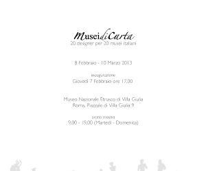 Mostre: Musei di Carta - 20 designer per 20 musei italiani