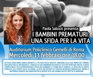 Serate - Paola Saluzzi presenta: 'I bambini prematuri. Una sfida per la vita'