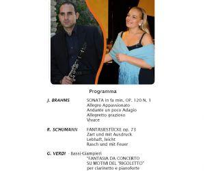 Concerti - Concerto di musica da camera clarinetto e pianoforte