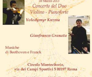 Concerti - Concerto del Duo Violino - Pianoforte composto da Volodymyr Kuzma e Gianfranco Granata.