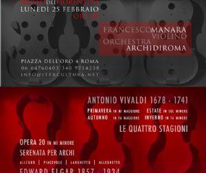 Concerti: Francesco Manara e Archi di Roma