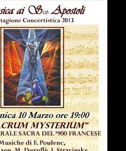 """Concerti - """"O SACRUM MYSTERIUM"""" Musica corale sacra del '900 francese"""