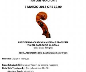 Concerti: I Concerti del giovedì all'Auditorium Accademia musicale Praeneste