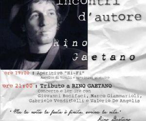 Attività - Frascati, Incontri con l'Autore - Rino Gaetano. Continua al Farenight la rassegna di serate cantautoriali