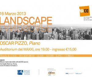 Concerti: CONCERTO AL MAXXI. Concerto per pianoforte di Oscar Pizzo