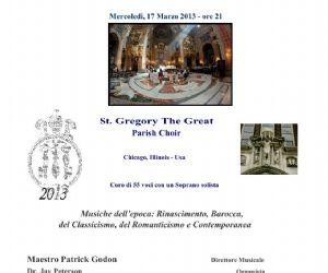 Concerti: Concerto Gratuito nella Chiesa di Santa Maria in Vallicella il 17 Marzo 2013