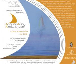 """Mostre: Acqua, Aria, Arte... si parte! Mostra organizzata con lo scopo di sostenere """"Rome Ocean World"""""""