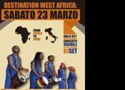 Concerti - Nell'ambito della rassegna Destination West Africa: incontro fra le periferie del mondo 22-23-24 Marzo il concerto del gruppo Wamali Percussion