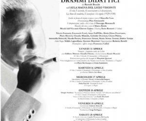 Spettacoli - Dibattito culturale nell'Aula Magna del Liceo Visconti