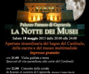 """Visite guidate: Per la manifestazione """"La Notte dei Musei"""" visita a Palazzo Farnese di Caprarola"""