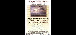 Concerti: Trio Tritonus suona J. L. Dussek e J. Brahms