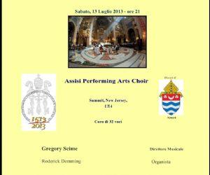 Concerti: Concerto del coro a 32 voci di Summit New Jersey, USA