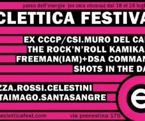 """Festival: Al Parco delle Energie e' tempo di """"Eclettica Festival"""""""