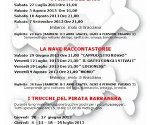 """Spettacoli: Favole raccontate a bordo del battello """"Sabazia II"""" del Teatro Helios"""