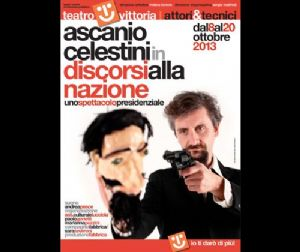 """Spettacoli: Ascanio Celestini ad ottobre al Teatro Vittoria.  Di nuovo Ascanio Celestini a sostegno della campagna del Comitato """"Facciamo ripartire il cuore"""