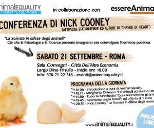 Corsi e seminari - Conferenza a Roma dell'attivista e scrittore Nick Cooney