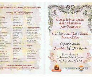 Concerti: Concerto in occasione della solennità di San Francesco