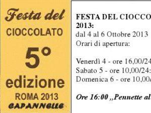Attività: V edizione della Festa del Cioccolato. L'evento più dolce dell'anno