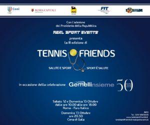 Attività - Manifestazione per la promozione della  prevenzione del tumore alla tiroide di cui Presidente, già nelle precedenti edizioni, l'icona internazionale del Tennis Nicola Pietrangeli