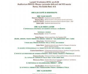 Corsi e seminari - Il rilancio di un patrimonio dimenticato. 1° Convegno Nazionale APGI Associazione Parchi e Giardini d'Italia