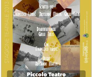"""Spettacoli - La Compagnia Teatrale Opera Prima presenta """"Chi resiste nella palude"""" al Piccolo Teatro di Gallicano"""