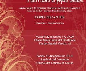 Concerti - E altri canti di popoli lontani. Concerto di Natale del coro DeCanter
