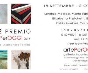 "Gallerie - "" 5+2  Premio artePerOGGI 2014 """