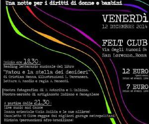 Una notte per i diritti di donne e bambini al Felt Club di Roma