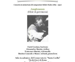 Al Conservatorio Santa Cecilia concerto in memoriam del compositore Robert Kahn