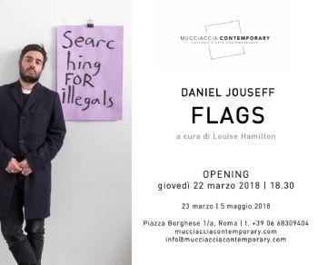 "Le mostre: ""Daniel Jouseff, FLAGS"" e ""Stephane Graff, EYEDENTITY"""