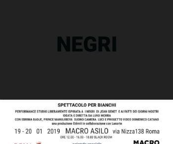 Performance studio liberamente ispirata a I negri di Jean Genet e ai fatti dei giorni nostri