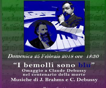 Omaggio a Claude Debussy nel centenario della morte con musiche di J. Brahams e C. Debussy
