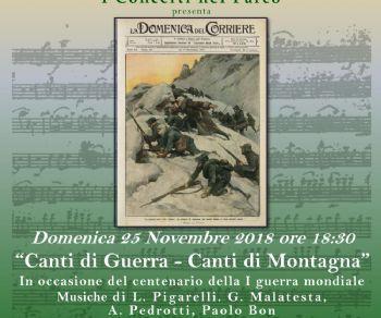 Concerti - Canti di guerra – canti di montagna