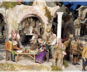 Allestimento del Presepe Monumentale dalle collezioni del Museo nazionale delle Arti e Tradizioni popolari