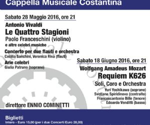 Paolo Franceschini (violino) e Ennio Cominetti Direttore