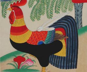 Dipinti folcloristici coreani che aprono il nuovo anno - artista Suh Gong Im